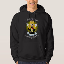 Angel Watching Over Me Pale Yellow Ribbon Hoodie