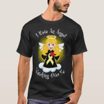 Angel Watching Over Me Pale Yellow Ribbon T-Shirt