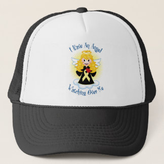 Angel Watching Over Me Pale Yellow Ribbon Trucker Hat