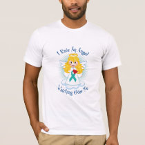 Angel Watching Over Me Teal Ribbon T-Shirt
