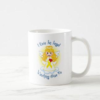 Angel Watching Over Me Yellow Ribbon Coffee Mug
