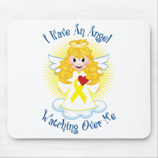 Angel Watching Over Me Yellow Ribbon Mouse Pad