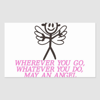 Angel Watching Over Rectangular Sticker