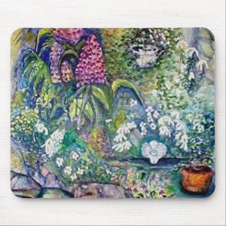 Angel Watercolor Garden Mousepad