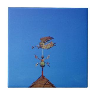 Angel Weather Vane Bright Blue Sky Ceramic Tiles