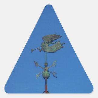 Angel Weather Vane Triangle Sticker