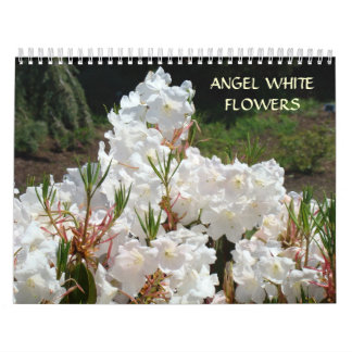 ANGEL WHITE FLOWERS Calendar White Florals