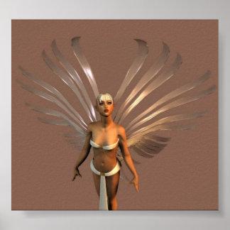 Angel~white Poster