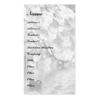 Angel wing and heart! Double-Sided standard business cards (Pack of 100)