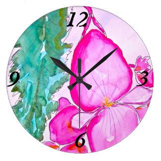 Angel Wing Begonia Large Clock
