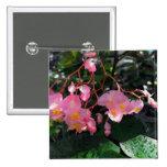 Angel Wing Begonias Pinback Button
