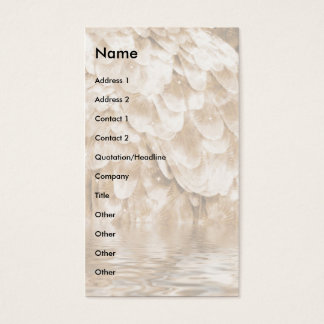 Angel Wing Reflection. Business Card