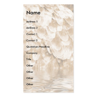 Angel Wing Reflection. Double-Sided Standard Business Cards (Pack Of 100)