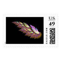 Angel wing - stamp