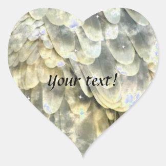 Angel Wing Heart Stickers