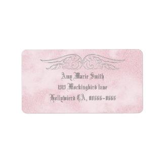Angel Wing Sweet 16 Birthday Address Label