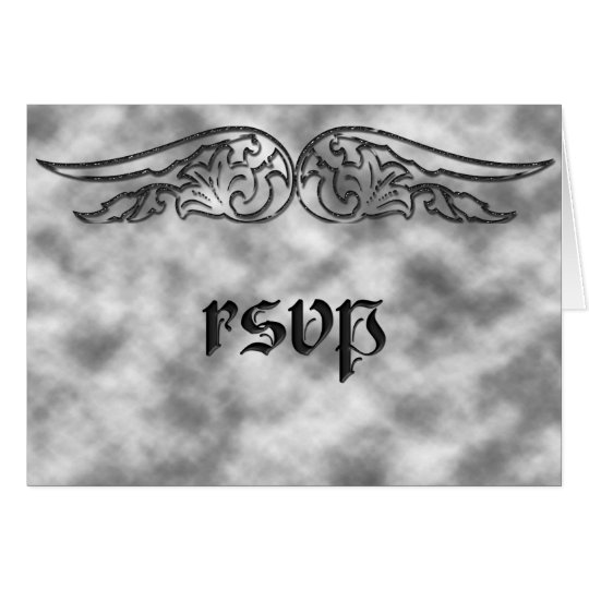 Angel Wing Sweet 16 Birthday RSVP Card