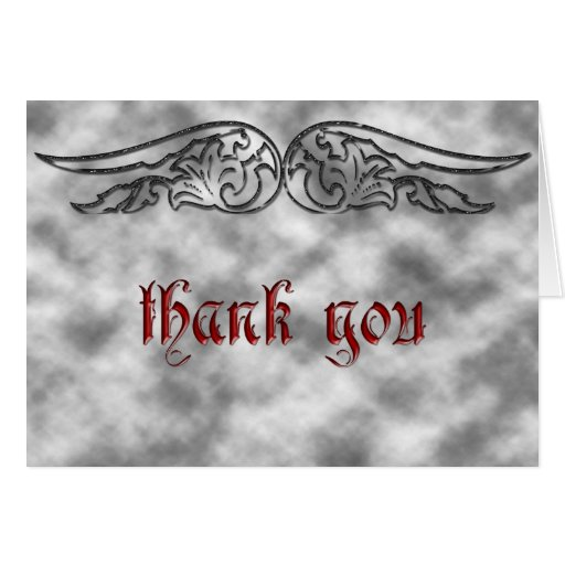 Angel Wing Sweet 16 Birthday Thank You Card