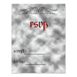 "Angel Wing Sweet 16 rsvp card 4.25"" X 5.5"" Invitation Card"
