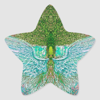 Angel Wing Tree of Life Star Sticker