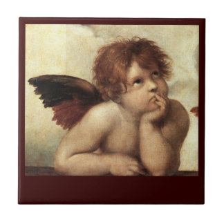 ANGEL / Winged Cherub Ceramic Tile