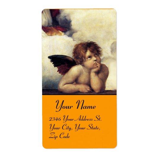 ANGEL / Winged Cherub,orange,white Label