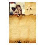 ANGEL / Winged Cherub, Parchment Monogram Stationery