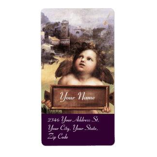 ANGEL / Winged Cherub, purple Label