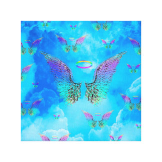 Angel Wings and Clouds Canvas Print
