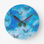 Angel Wings and Clouds Clock