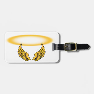 Angel Wings and Halos Customize Bag Tag
