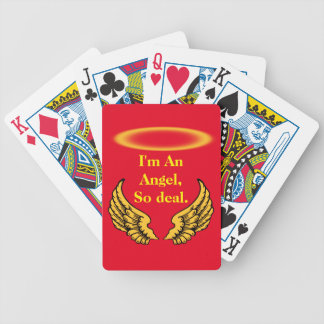 Angel Wings and Halos Customize Bicycle Playing Cards