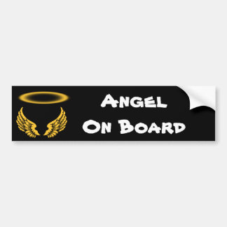 Angel Wings and Halos Customize Bumper Sticker