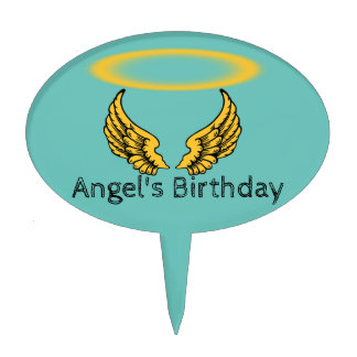 Angel Wings and Halos Customize Cake Topper