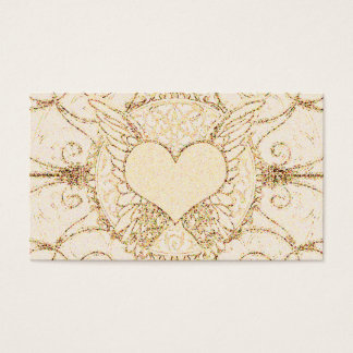Angel Wings and Heart Business Card