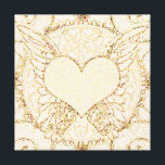 """Angel Wings and Heart Canvas Print<br><div class=""""desc"""">An angel wings and heart in soft pale peach color.</div>"""