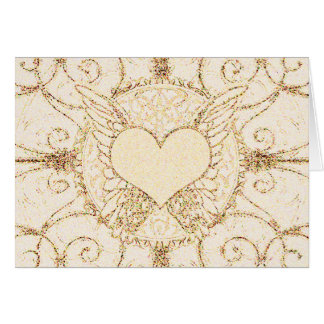 Angel Wings and Heart Greeting Card