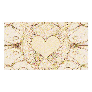 Angel Wings and Heart Double-Sided Standard Business Cards (Pack Of 100)