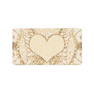 Angel Wings and Heart Address Label