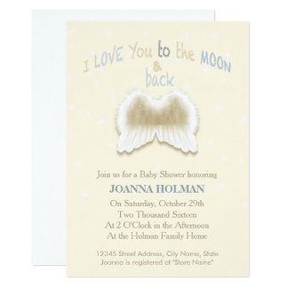 Angel Wings Baby Shower Card