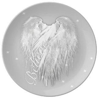 ANGEL WINGS 'Believe' Magic Heart Dinner Plate