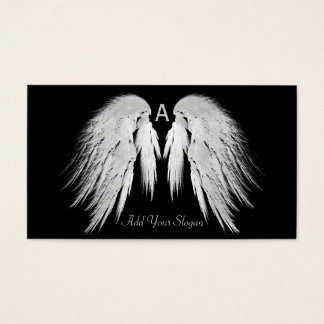 ANGEL WINGS Black You Pick Color Custom Business Card