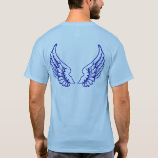 Angel Wings (Blue) Front and Back Tee