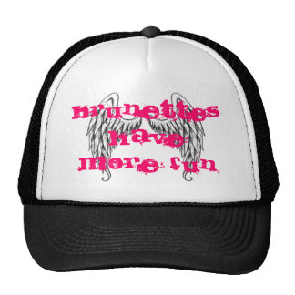 Angel wings, Brunettes have more fun Trucker Hat