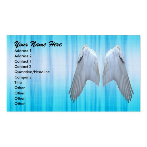 Angel Wings Business Cards