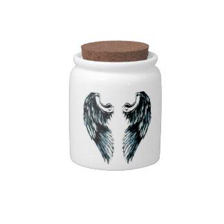 Angel wings candy jar