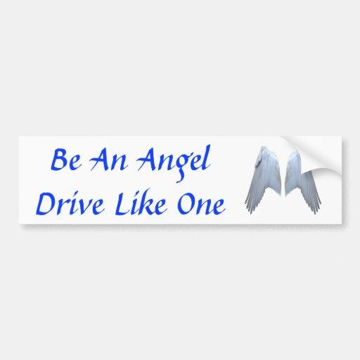 Angel Wings Car Bumper Sticker