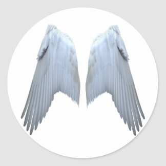Angel Wings Classic Round Sticker