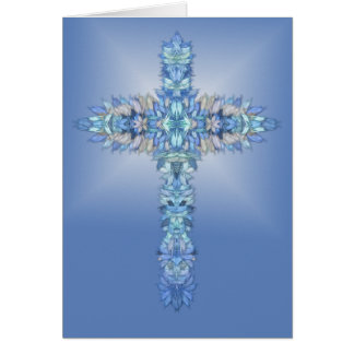 Angel Wings Cross Card