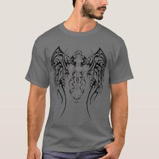 Angel Wings Cross Pattern T-Shirt
